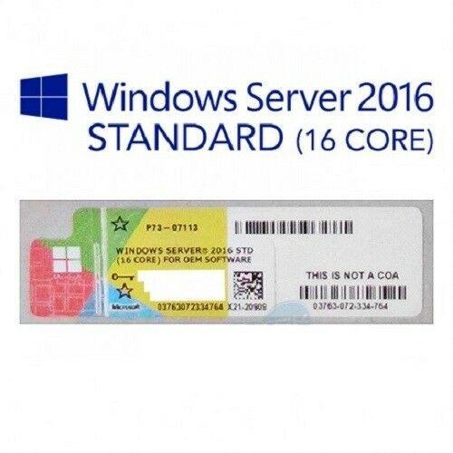 Купить с гарантией качества Windows Server 2016 standard label sticker COA (стикер, наклейка)